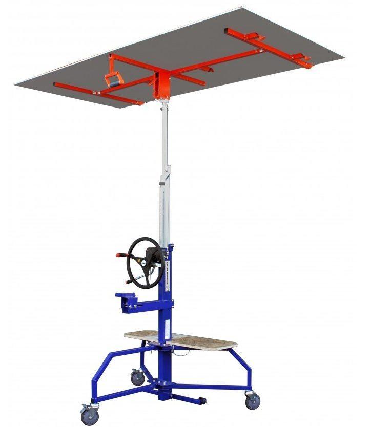 В «Эдме» можно осуществлять подъём гипсокартона автоматически с помощью шуруповёрта