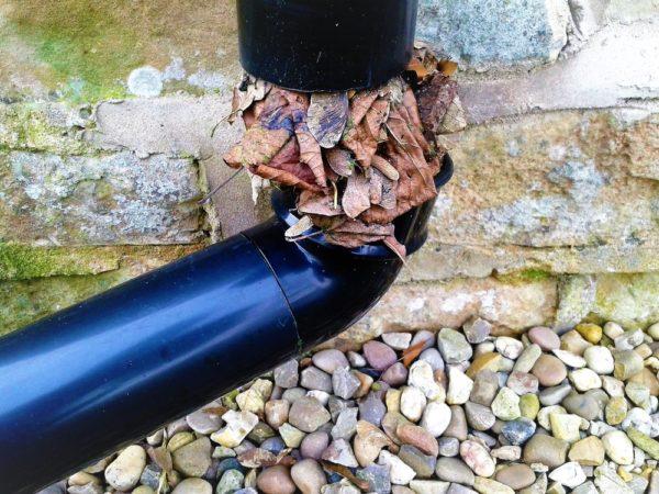 В ходе продолжительной эксплуатации, в теплое время года, слив забивается листвой и мусором, а в холодное время года сточные воды замерзают