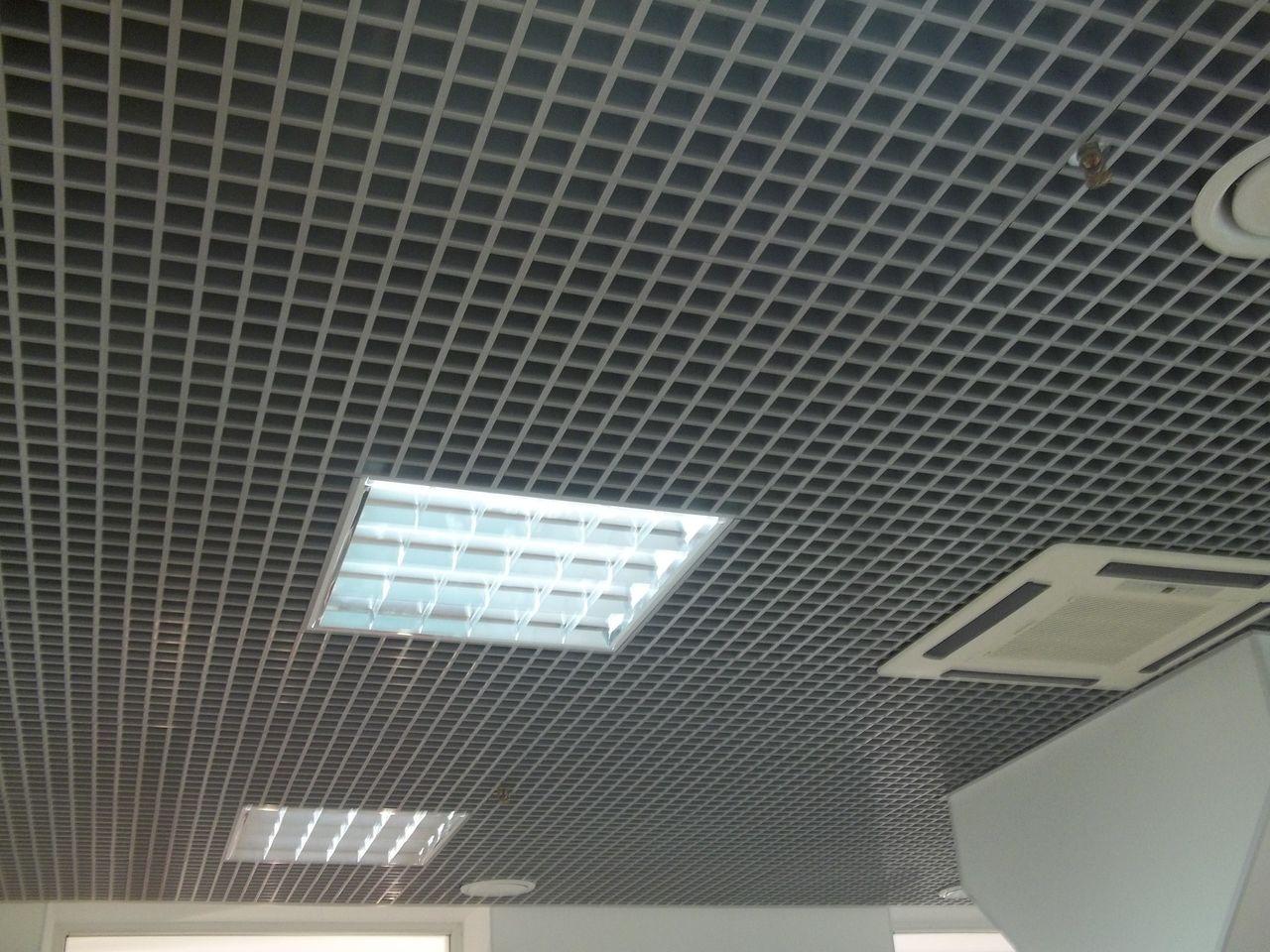 потолки грильято схема монтажа