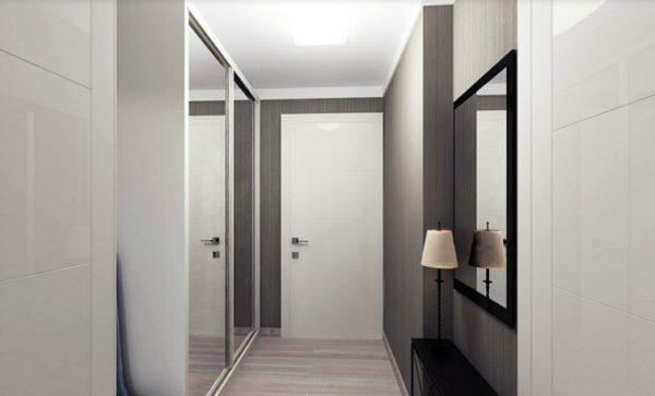 В узком коридоре важно оставить достаточно места для передвижения