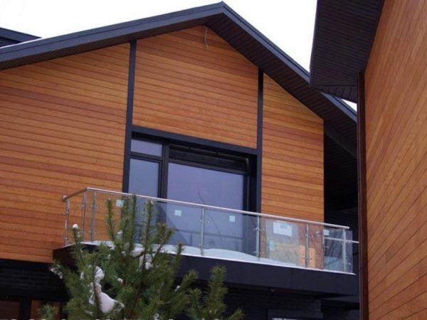 Вагонка украсит не только комнаты, но и фасад дома