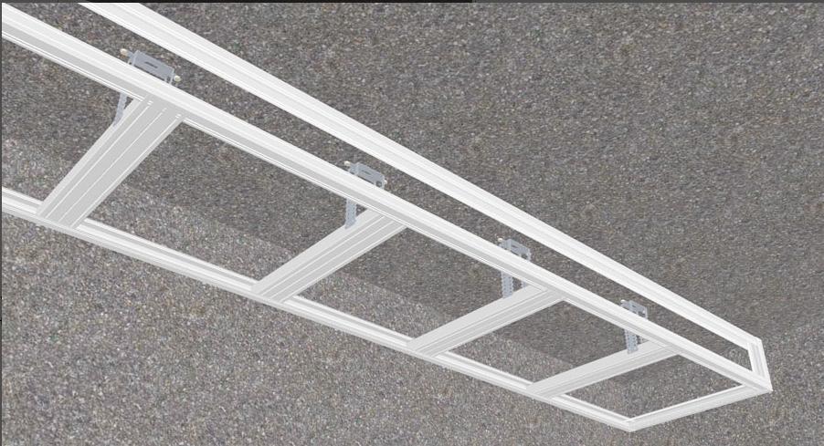 Вариант с использованием стандартных потолочных подвесов
