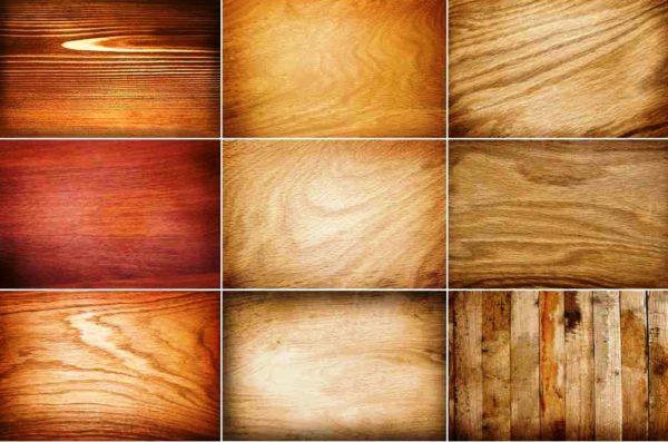 Варианты деревянных обоев