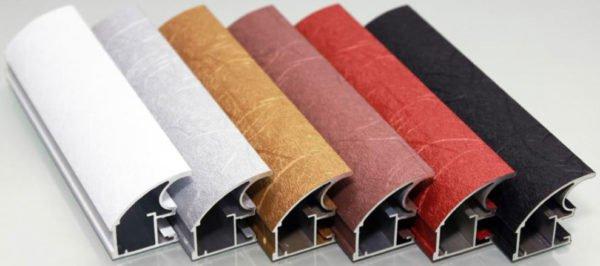 Варианты расцветок алюминиевого профиля