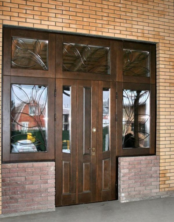 входные двери для дома с окном