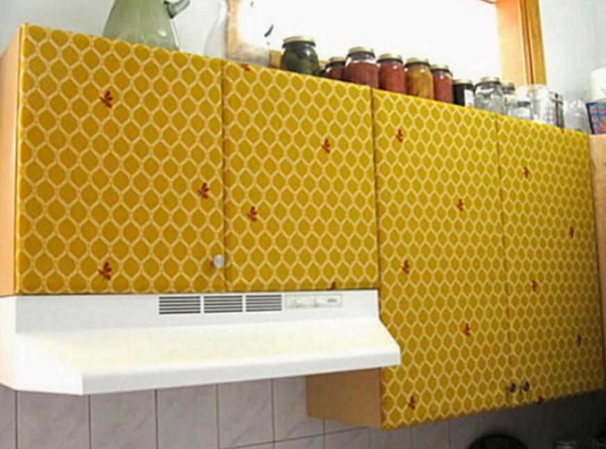 отделка кухонных шкафов руками фото требования