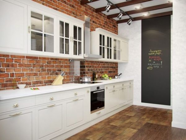 Вместо обоев одну стену можно выкрасить грифельной краской – эффект получится очень интересным