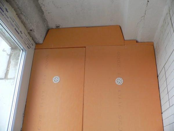 Внутреннее утепление балкона пеноплексом.