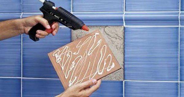 Водорастворимые гвозди жидкие можно использовать для приклеивания кафельной плитки