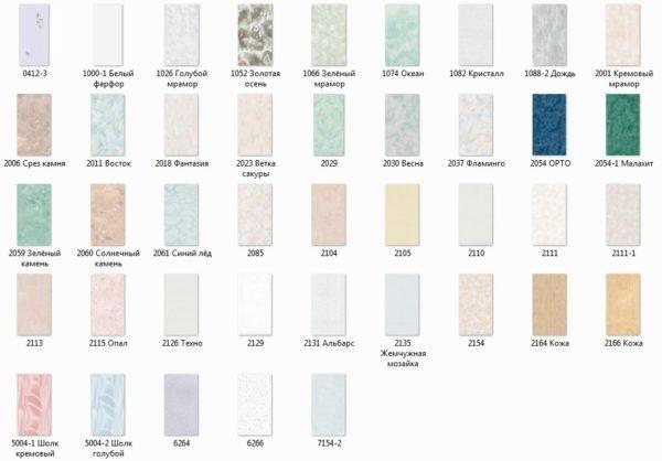 Выберите одноцветные панели светлых оттенков.