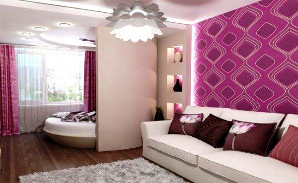 Выделение спального места в однокомнатной квартире
