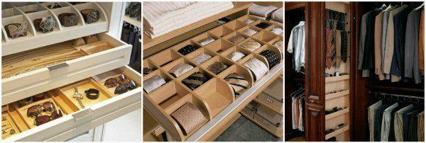 Ящики для украшений, мелких предметов, галстуков