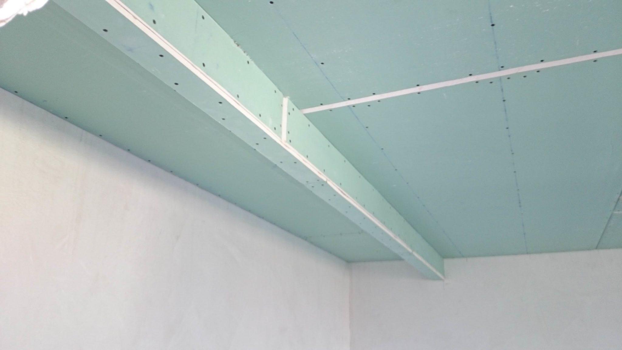 Как сделать обрешетку на потолок из бруса для гипсокартона