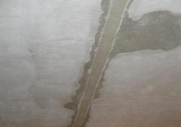 Заделанный шов бетонного перекрытия