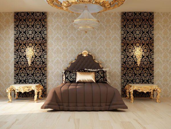 Золото придаст комнате элегантность