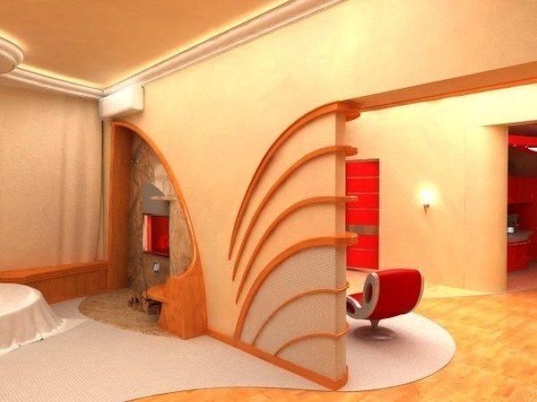 Зонирование спальни с выделением кабинета
